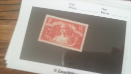 LOT 242131 TIMBRE DE FRANCE NEUF* N�308 VALEUR 65 EUROS