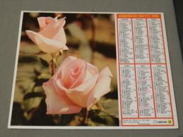 Calendrier 1985 - OBERTHUR 27 - Rose Queen Elisabeth - Photo Pictor - Calendari