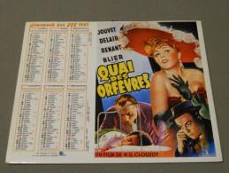 Calendrier 1987 - OLLER - Affiche De Cinéma - 212 - Kharbine Tapador - Maurice Chevalier - Le Roi De Koning - Quai Des.. - Calendari