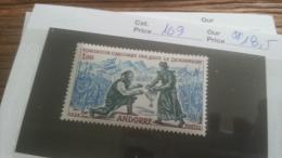 LOT 242158 TIMBRE DE ANDORRE NEUF** N�169 VALEUR 18,5 EUROS