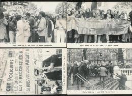 POLITIQUE - D�fil� du 1er mai 1979-  Lot de 6 cartes tirage n� 0476 - CGT