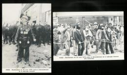 POLITIQUE -  Lot de  6 cp PARIS 23 mars 1979 contre le d�mant�lement de la sid�rurgie fran�aise - Manifestation - CGT
