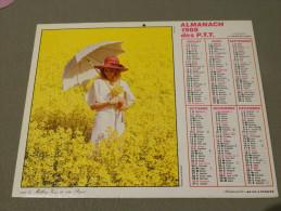 Calendrier 1988 - JEAN LAVIGNE - Photo PIX - Femme Romantique - Bouquet - Année Bissextile - Calendari