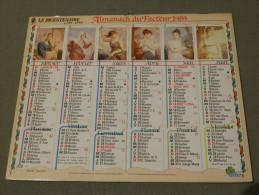 Calendrier 1989 - OLLER - Photo TAPADOR - 226 - Le Bicentenaire 1789-1989 - Calendari