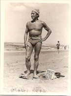 FASHION MUSCLE GRANDPA GRAND-PÈRE MUSCULAIRE INCONNÚ MAR DEL PLATA, ARGENTINA? VOYAGÉE 1972 SIZE 9X 7,5 CM RARE! GECKO - Mode