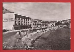 DF1-16  Porto Azzuro Isola Elba, La Spiaggia, Albergo Del Mare. Viaggiata. - Altre Città