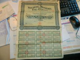 TONKIN ACTION SOCIETE MINIERE DE PAC LAN 1926 - Asie