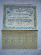 Belle Action  France Société Des Hôtels Et Casinos De Pau 1928  Obligation De 100 Francs  Au Porteur - Casino