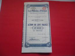 LES PETROLES D'ORIENT - Aandelen