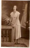 "DONNA MUJER WOMAN FEMME FASHION 1920 ""CASA FOTO BANDIERI"" ARGENTINA NON CIRCULEE BELLE!! SIZE 13,5 X 8,5CM GECKO. - Mode"