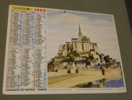 Calendrier 1995 - EYRELLE - La Rochelle - Le Mont-Saint-Michel - Dessin De Guy CHAVANIS - Calendriers