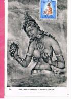 ( CM ) CEYLON YT 296 Oblt 195?  MAXIMUM CARD , CARTE MAXIMUM - Otros - Asia