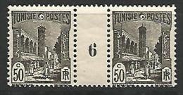 TUNISIE MILLESIME 6 / N� 132 NEUF* TTB / LEGERE  TRACE DE CHARNIERE