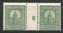 TUNISIE MILLESIME 6 / N� 127 NEUF* TB / TRACE DE CHARNIERE