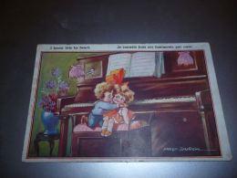LC100 BC10-2-36 Illustrateur Fred SPurgin Garçon Et Fille S Embrassent Devant Piano - Spurgin, Fred