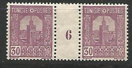 TUNISIE MILLESIME 6 / N� 129 NEUF* TTB /  CHARNIERE