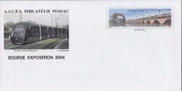 = Bordeaux Gironde ASCPA Philatélie Pessac, Timbre Tram-Pont Bordeaux  Illustration Tramway à Pessac Timbre Type 3661 - Enteros Postales