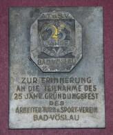HISTORISCHE MEDAILLEN ÖSTERREICH - BAD-VÖSLAU 1947 - Medal Sports From Austria 1947 - Gewerbliche