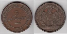 **** ITALIE REPUBLIQUE ROMAINE - ITALIA REPUBLICA ROMANA - 3 BAIOCCHI 1849 DIO E POPOLO - 3 PLAT **** ACHAT IMMEDIAT - Regional Coins