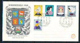 Niederlande Michel Nr. 755 � 759 Voor het  Kind 1960 auf illustrierten Ersttagsbrief (Michel Euro 20,00)