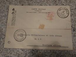 EMA-12 Fevrier 1932 Vers Bourlers Sur CP(compagnie Des Metaux) - Poststempel