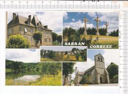 SARRAN  -    5    Vues : Mairie  - Calvaire  - Vue Générale  - Etang  -  Eglise - France