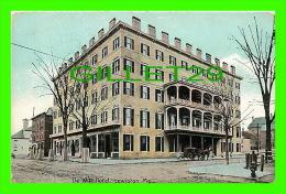 LEWISTON, ME - DE WITT HOTEL - ANIMATED - - Lewiston