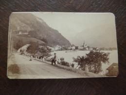 Rare Photo CDV Garcin Savoie Suisse Fluelen Lac Des 4 Cantons Suisse A Situer - Photos