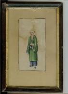 2 Peintures Anciennes  à L´eau Sur Papier - Arte Orientale