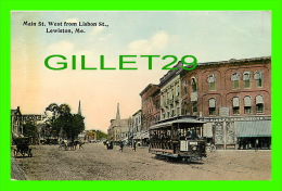 LEWISTON, ME - MAIN STREET WEST FROM LISBON STREET - ANIMATED - - Lewiston
