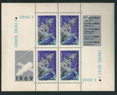 1012 Romania 1969 Space Soyuz-4 -5 S/S MNH
