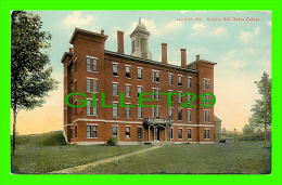 LEWISTON, ME - SCIENCE HALL, BATES COLLEGE - THE HUGH C. LEIGHTON CO - - Lewiston