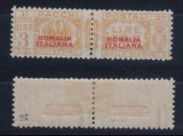 1931 Pacchi Postali, 3 Lire (sovrastampa Rossa I Tipo) * - Somalia