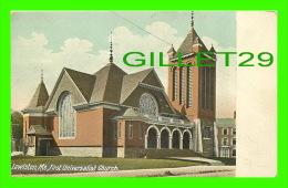 LEWISTON, ME - FIRST UNIVERSALIST CHURCH - THE HUGH C. LEIGHTON MANUFACTURERS - - Lewiston