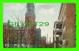 LEWISTON, ME - CITY BUILDING & DE WITT HOTEL, PINE STREET - - Lewiston