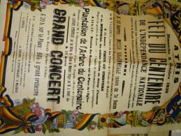 Athis. Affiche de la F�te du centenaire de l�ind�pendance. 1930.