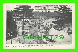 LEWISTON, ME - MIDWAY, MAINE STATE FAIR - ANIMATED, PLANE - PUB. BY H. L. FARR & CO - - Lewiston