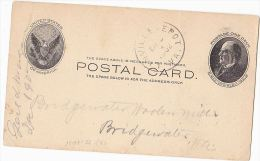 1902 USA McKinley Postal Stationery Card LINVILLE DEPOT  To BRIDGEWATER VA  United States Stamps Cover - Entiers Postaux