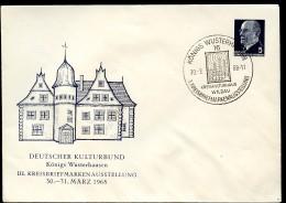 DDR PU14 D2/007a Privat-Umschlag SCHLOSS KÖNIGS WUSTERHAUSEN Sost. 1968 - Privatumschläge - Gebraucht