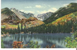 2209 - Bear Lake, (Alt. 9,550 Ft.), Rocky Mountain National Park, Colorado Long's Peak, (Alt. 14,255 Ft.)+Glacier Gorge