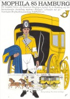 GERMANIA 1985 MOPHILA '85 HAMBURG - TRASPORTO POSTA - - Maximum Cards