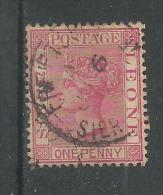 Victoria 1p Carmin Fil Ca - Sierra Leone (...-1960)