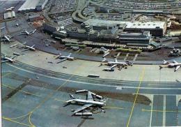 AK FLUGWESEN AERODROME AIRPORT ZÜRICH   ALTE POSTKARTE 1971 - Aerodrome