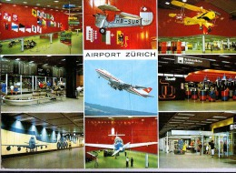AK FLUGWESEN AERODROME AIRPORT ZÜRICH   ALTE POSTKARTE 1998 - Aérodromes