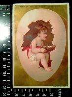 CHROMO Maison De La Belle Jardinière OEUF Pâques ANGE ANGELOT Nid Lith. Vallet Minot 1878 - Au Bon Marché