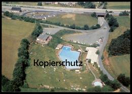 ÄLTERE AK AUTOBAHN RASTSTÄTTE KIRCHHEIM A7 AUTOBAHNSCHWIMMBAD T. AMT NIEDERAULA Motorway Swimming Pool Autoroute Piscine - Ansichtskarten
