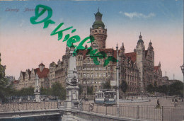 AK: Leipzig, Neues Rathaus, Um 1915 - Leipzig