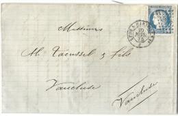 Ambulant De Marseille à Lyon. Lyon Pour Vaucluse. - 1849-1876: Classic Period