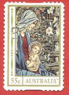 AUSTRALIA USATO - 2012 - NATALE - Mary & Child - Madonna Col Bambino - 55 C - Michel AU 3851IBA - Usati