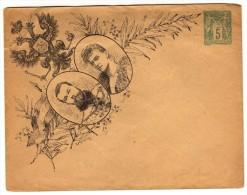 Entier Postal EP Commémoratif - SAG D10 G - Enveloppe Sage 5c Vert - Visite Des Souverains Russes - Standaardomslagen En TSC (Voor 1995)